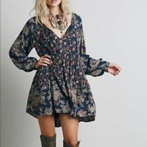 Free People Lucky Loosey Mini Dress Tunic